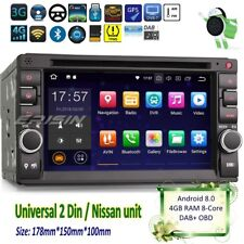 2 Din Autoradio Android 8.0 Doppio Nissan Navi DVD DAB+GPS DTV Wifi BT SD 7836IT