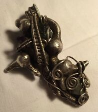 Hand Crafted Sterling Silver Wire Wrap Pendant W/ Multiple Stones