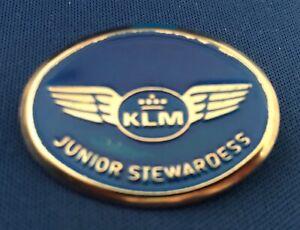 KLM Airlines Metal Junior Stewardess Pin