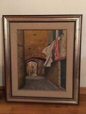 Quadro Dipinto Toscano Toscana olio Cornice Vintage Pittore Arte Anni '70 1976
