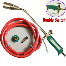 Propane Torch Nozzle Ice Melter Weed Burner Roofing Welding Torch Flame Gun Kit