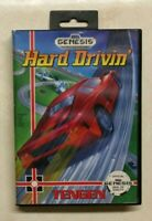 Hard Drivin' w/case (Sega Genesis, 1991)