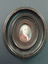 GOOD PORTRAIT MINIATURE OF A GENTLEMAN IN A RED COAT