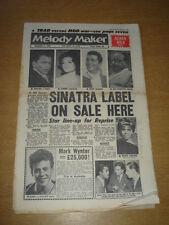 MELODY MAKER 1961 SEPTEMBER 9 FRANK SINATRA ACKER BILK SAMMY DAVIS DEAN MARTIN +
