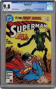 Superman #1 CGC 9.8 1987 3844540011