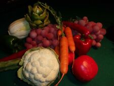 SALE - FAUX FRUIT AND VEGETABLES, LOOKS SO REAL, 17 PIECES