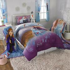 Kids Girls Disney Frozen Anna And Elsa Bed In A Bag / Comforter Set - 3 Prints