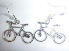 "Plata tibetana ""te amo mi bicicleta 'pendientes en plata de ley ganchos de ciclo de Bolsa De Regalo"