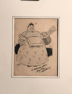 "Original 1911 John Hassall Pen and Ink Drawing ""Little Buttercup"""