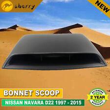 For NISSAN NAVARA D22 1997-2015 BONNET HOOD SCOOP BLACK SEAL Brand New