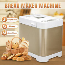 Stainless Steel 18-In-1 Bread Maker LCD Display Automatic Yogurt Jam
