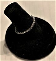 316L Stainless Steel Silver Braided Rope Stackable Ring