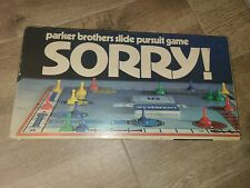 Vintage SORRY! Board Game 1972 Parker Brothers