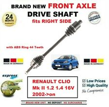 FOR RENAULT CLIO Mk II 1.2 1.4 16V 2002-on BRAND NEW FRONT AXLE RIGHT DRIVESHAFT