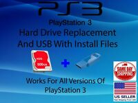 "PS3 Replacement Internal 500GB 2.5"" Hard Drive with USB DIY Sony PlayStation 3"