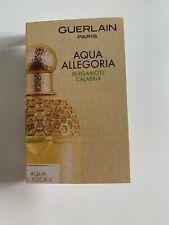 New Aqua Allegoria Bergamote Calabria EDT sample