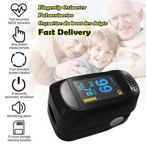 Pulse Fingertip Oximeter Blood Oxygen SpO2 Monitor PR PI Heart Rate FDA Approved