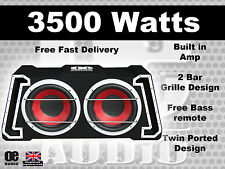 "BIG POWER 3500W TWIN 12 ""Amplified SUBWOOFER ATTIVO SUB AMP BASS BOX"