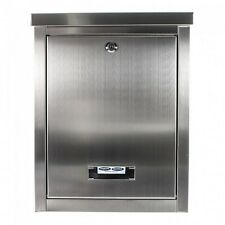 Stainless Steel Mail Post LetterBox Postbox A4 Wall mounted