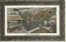 EARLY LITHGOW WATER SUPPLY  NSW  POSTCARD
