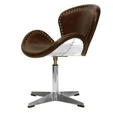 Vintage Fauteuil en cuir rétro Véritable Chaise pivotante oeufs DE CLUB 437
