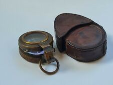 More details for british army 1915 leather cased ww1 stuart of london prismatic compass. xwmm