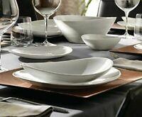 Bormioli Prometeo 12 Pcs Dinner Set White Opal Glass Dinnerware Dining Plates