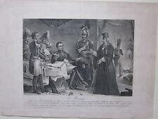 1835ca LE PRESAGE rara acquatinta Battle of Borodino Moskova Napoleone