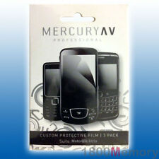 Mercury AV Pro Screen Protector 3Pack for Motorola Atrix Clear Film Overlay