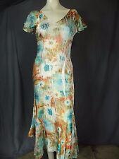 KOMAROV Multi Floral  V-Neck Lace Short Sleeve Dress Women's Size S