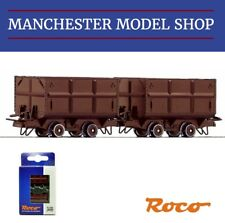 Roco 34499 HOe 1:87 mine side tipping wagons 2 piece set 009 9mm gauge NEW BOXED