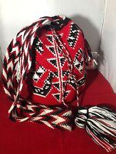 Wayuu Drawstring Shoulder/Crossbody Bag-Drawstring Tassel Hand Made in Colombia