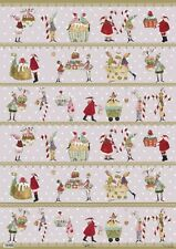 *SILKE-LEFFLER-Weihnachten-Geschenkpapier-50x70cm-Sweet-Christmas-Pastell