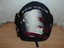 Prince Pro Tour Tennis Backpack Blk/Red/Wht/Blue Racquet Sleeve Excellent Condit