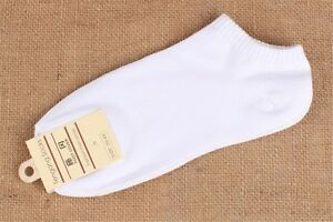 5Pairs Men Casual Non Slip Solid Crew Soft Cotton Ankle Low Cut Short Socks 7-10