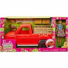 Barbie Dulce Huerta Granja camión y Muñeca con Mascota Perro y mucho más!