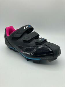 Louis Garneau New Women's Size 8 Multi Air Flex Bike Shoes Cycling Black/Pink