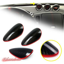 Carbon + Red Line For Nissan 370Z Z34 FRONT GAUGE COVER POD TRIM 2018 3pcs