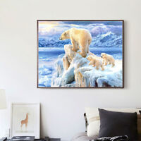 EG_ Polar Bear Baby 5D Diamond Painting Cross Stitch Mosaic Embroidery Decor Fas