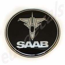 "63.5mm/2.50"" JET plane SAAB BLACK Chrome Rear Badge Emblem aero 9-5 9-3 3D decal"