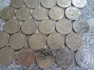 """Eisenhower """"IKE"""" DOLLAR U.S. Mint Coin Lot of (5 Coins) -Included is ONE 1976"""