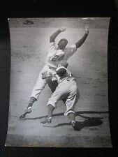 Willie Mays & Pee Wee Reese Arthur Rickerby Press Original Photo Giants Dodgers