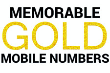 EASY MEMORABLE GOLD MOBILE NUMBERS PAYG SIM CARDS ALL NETWORKS DIAMOND PLATINUM