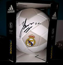 JAMES RODRIGUEZ REAL MADRID COLOMBIA SIGNED AUTOGRAPHED ADIDAS SOCCER BALL W/COA