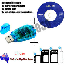 SIM Card Reader Writer Copy Cloner Backup GSM CDMA Win XP Vista Win7+adaptor