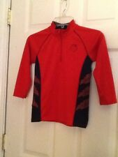 Mad Game Boys Size 5/6 Red Long Sleeve Top With Half Zip Front Closure Preowned