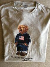 NWT RALPH LAUREN POLO BEAR T SHIRT SWEATER JEANS USA FLAG SHORT SLEEVE GRAY XL