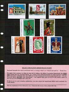 Belize 1978 Queens Coronation set Imperf.