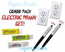 Lot of 7x Joke Prank Gag ELECTRIC PRANK SET -  Shocking Pen, Gum & Fake Outlet