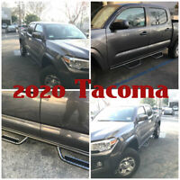 08-21 For Toyota Tacoma Double Cab Off-Road Hoop Side Step Running Boards Bars